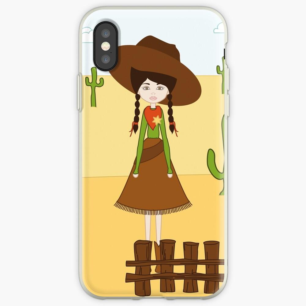 Celeste, la Vaquera del Oeste Funda y vinilo para iPhone