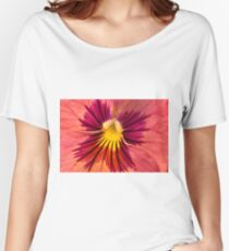 Pansy Macro  Women's Relaxed Fit T-Shirt