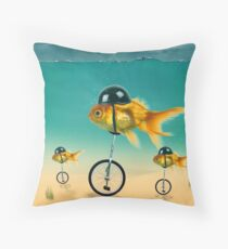 gold fish 3 Throw Pillow