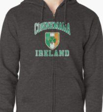 f98f6d2f Connemara, Ireland with Shamrock Zipped Hoodie