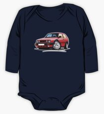 VW Golf GTi (Mk2) Red One Piece - Long Sleeve