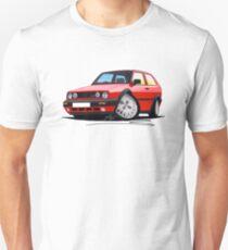 Camiseta unisex VW Golf GTi (Mk2) Rojo
