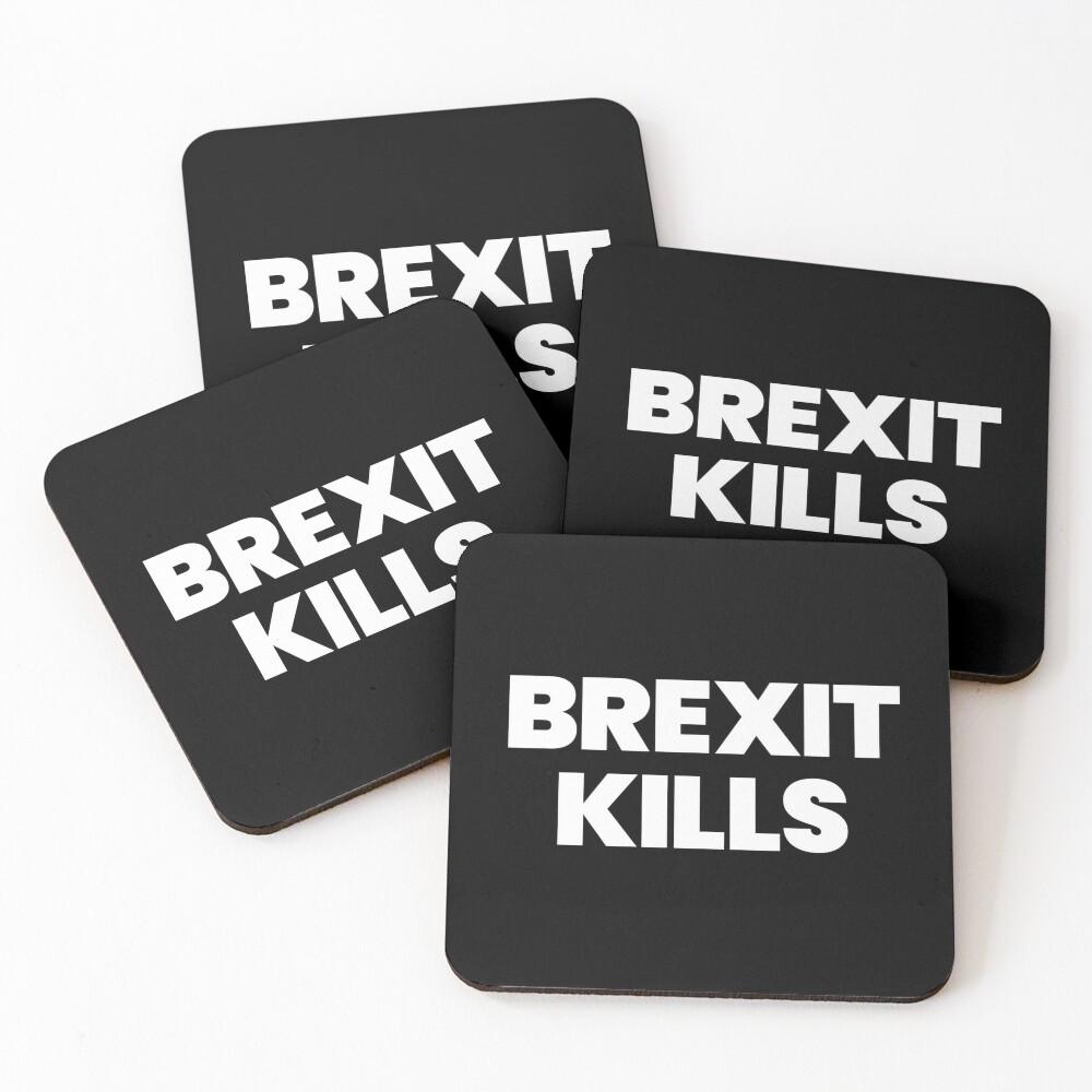 BREXIT KILLS Coasters (Set of 4)