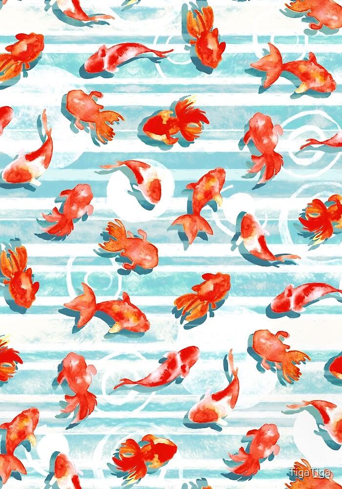 Watercolor Goldfish by TigaTiga