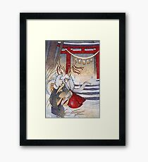 The Summit Gate - Deer Kirin Yokai Spirit Framed Print