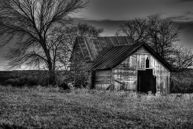 Quot Old Barn Sunset Texas Quot By Jphall Redbubble