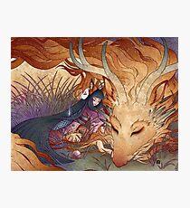 Slumber - Kitsune Fox Dragon Photographic Print