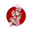 Japanese Flag - Cherry Blossom by weavernap