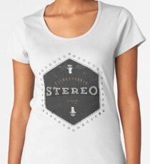 Stereo Super Sound Premium Rundhals-Shirt