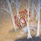 Capturing Fate - Deer Cervine Yokai  by TeaKitsune