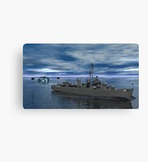 Anti Submarine Operations -- USS Kidd Canvas Print