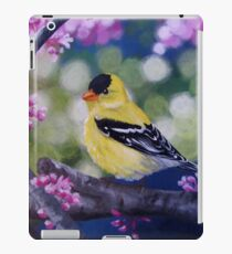 Yellow Finch Among the Blossoms iPad Case/Skin