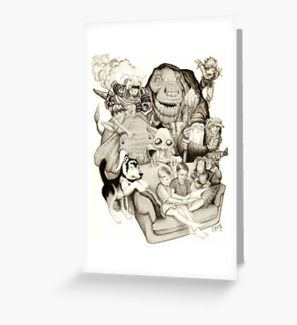 The Adventure of Reading Greeting Card