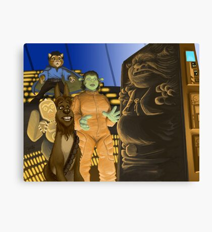 The Ogre Strikes Back Canvas Print
