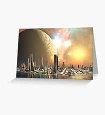 Utopia Islands - Cities of the Future Greeting Card