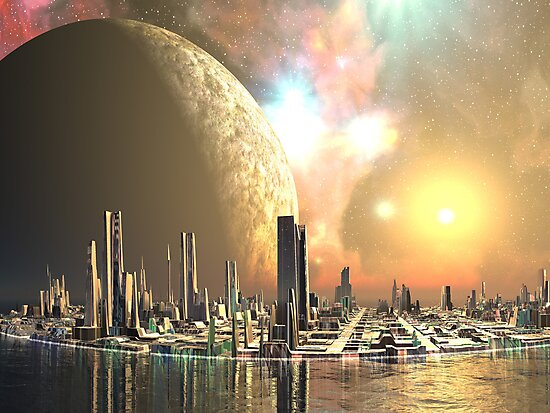 Utopia Islands - Cities of the Future by Angela Harburn