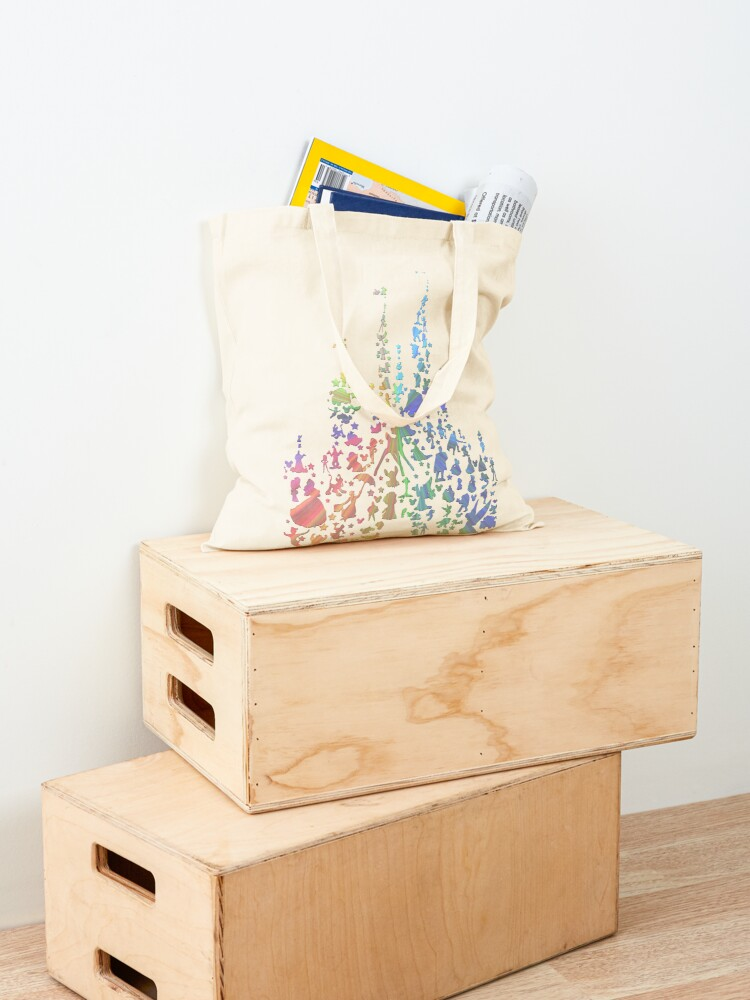 Alternate view of Happiest Castle On Earth (Rainbow Explosion) Tote Bag
