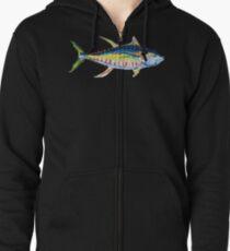 Yellowfin Tuna No.8 Zipped Hoodie