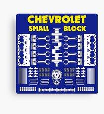 Chevrolet Small Block V8 Engine Parts  Canvas Print