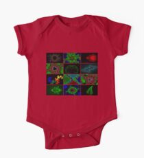 Twelve Fractal Images with Borders One Piece - Short Sleeve