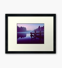 Reflections Of Winter. Framed Print