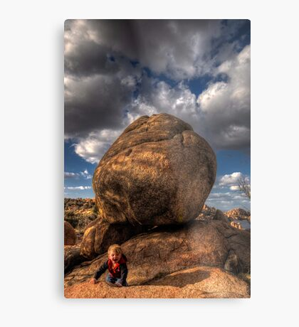 Indiana Sam and the Boulder of Doom Metal Print