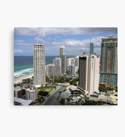 Surfers Paradise from Suncity Rooftop Canvas Print