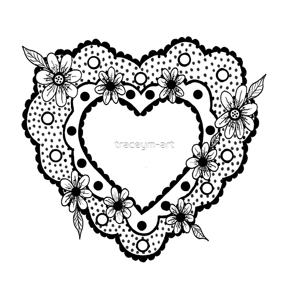Floral Heart by traceym-art