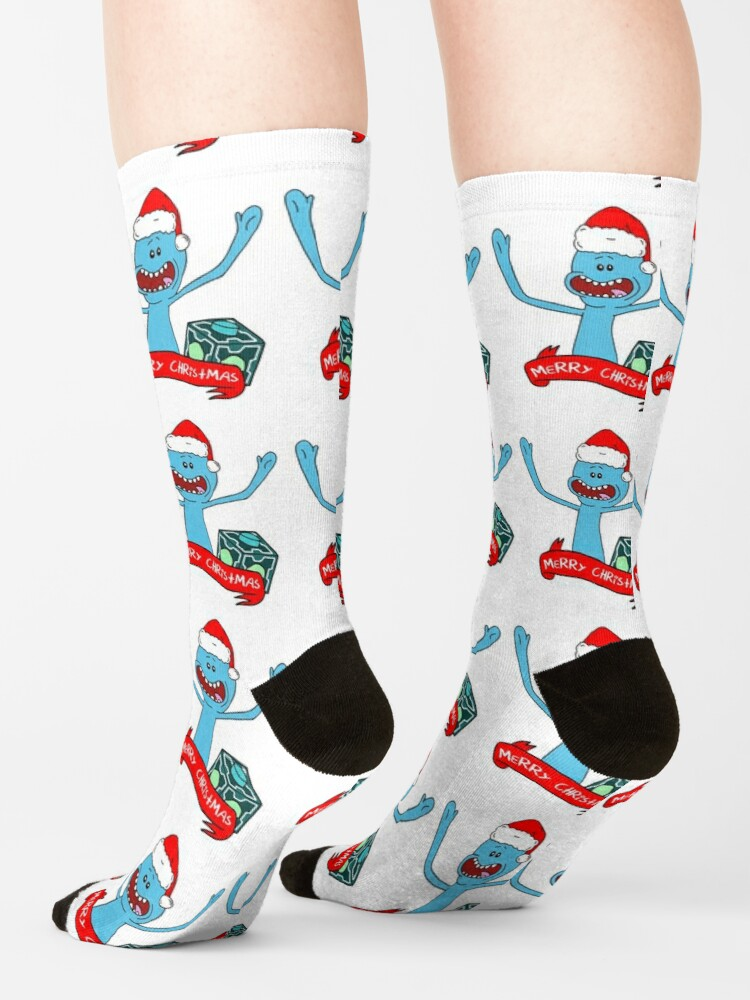 Alternate view of Mr. Meeseeks Merry Christmas Socks