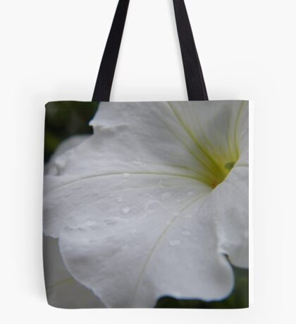 Dew on white flowers Tote Bag