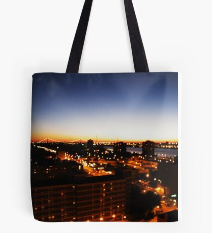 Windsor/Detroit Skyline at Sunset I Tote Bag