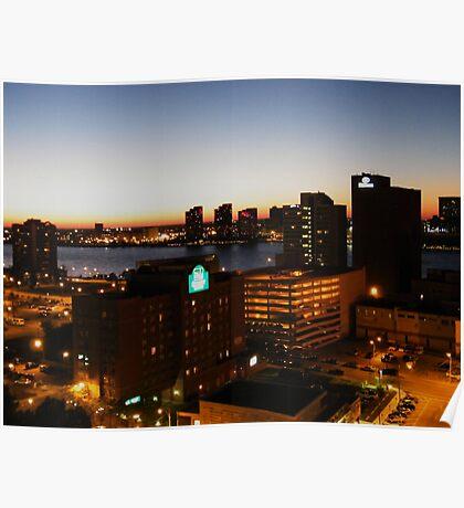 Windsor/Detroit Skyline at Sunset II Poster