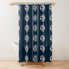 Wave Series - Great Lakes Icebreaker Shower Curtain