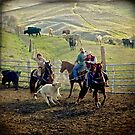 Roping Cattle by Laura Palazzolo