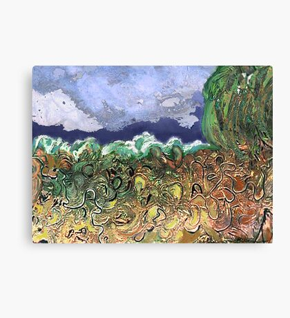 """Busy River""  Canvas Print"