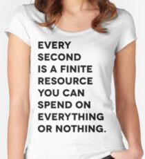 Every Second Women's Fitted Scoop T-Shirt