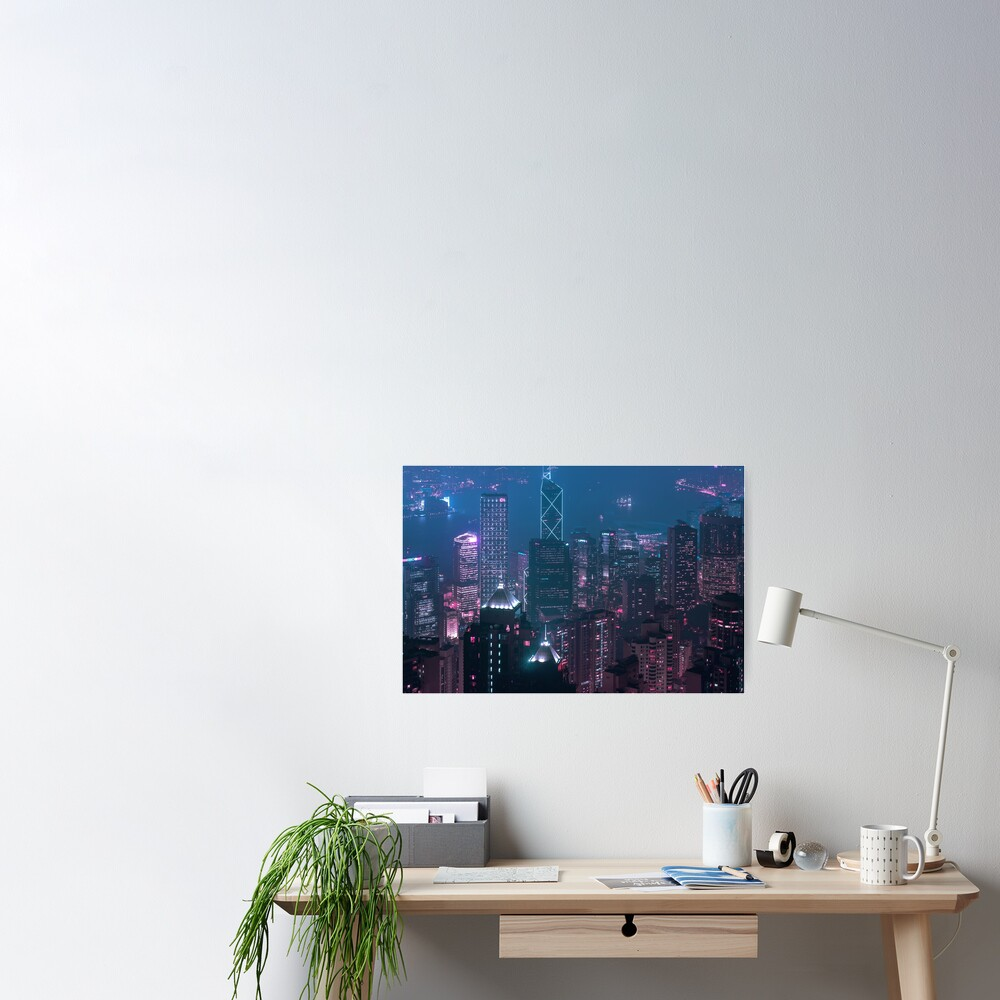 Hong Kong Viewed from the sky Poster