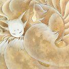 Sleeping Ninetails - Kitsune Fox Yokai by TeaKitsune