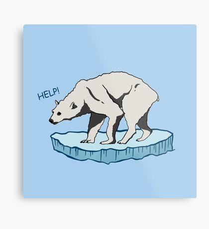 Polar Bear - Help! Metal Print