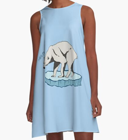 Polar Bear - Help! A-Line Dress