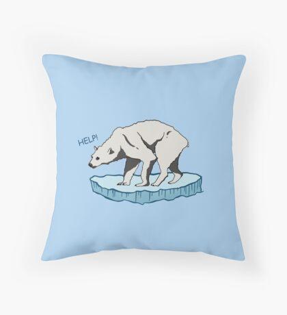 Polar Bear - Help! Floor Pillow