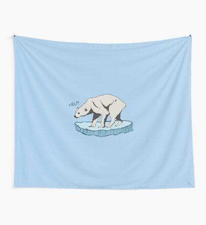 Polar Bear - Help! Wall Tapestry