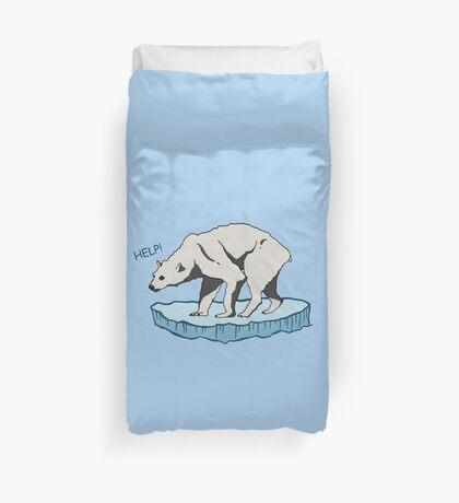 Polar Bear - Help! Duvet Cover