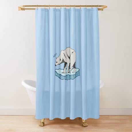 Polar Bear - Help! Shower Curtain