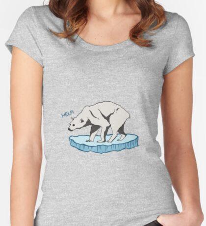 Polar Bear - Help! Fitted Scoop T-Shirt
