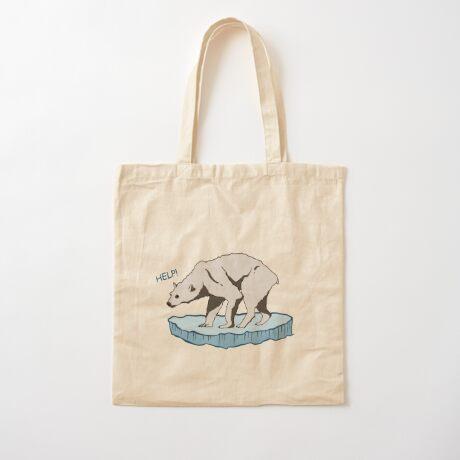 Polar Bear - Help! Cotton Tote Bag