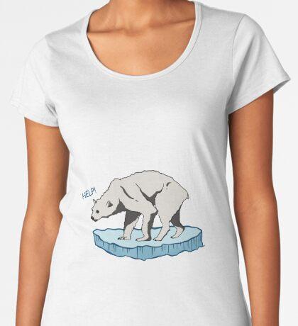 Polar Bear - Help! Premium Scoop T-Shirt