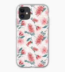 Australiana Floral Print- Bottlebrush and Flowering Gum iPhone Case