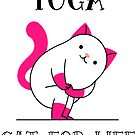 Yoga Cat For Life by donnarayne
