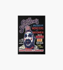 Captain Spaulding's Museum of Monsters and Madmen Art Board Print